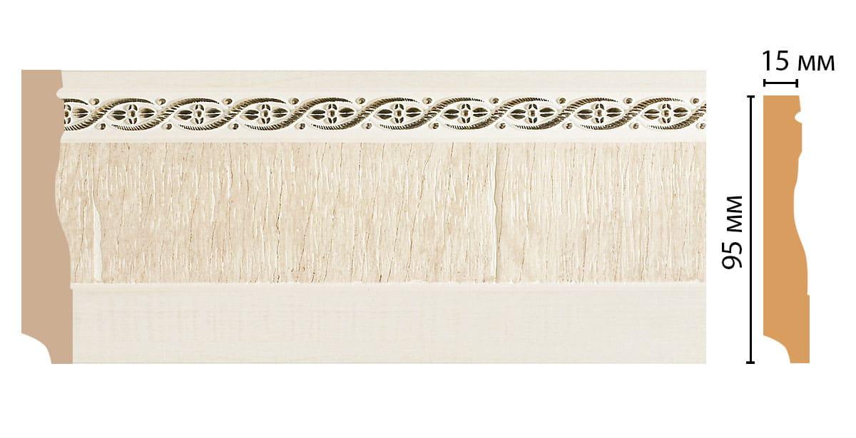 153-6 Плинтус напольный (2400 × 95 × 12 )