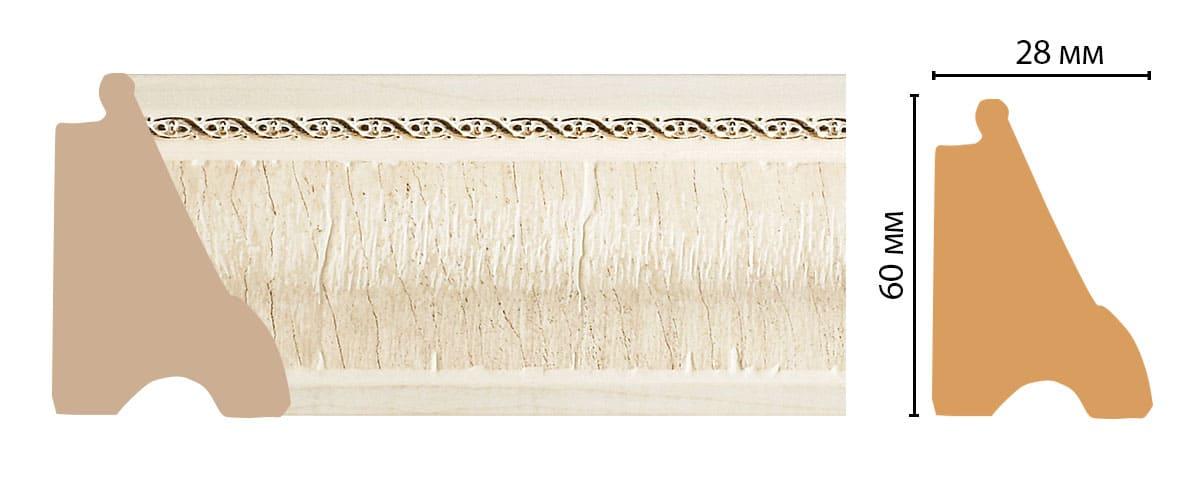 175-6 Плинтус напольный (2900 × 60 × 42 )