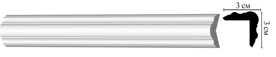 D003/48 Угловой плинтус (30*30*2000 мм)