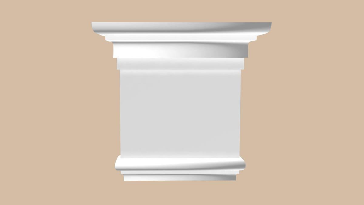 92815-1L/20 капитель для камина DECOMASTER-2 (205*190*65)