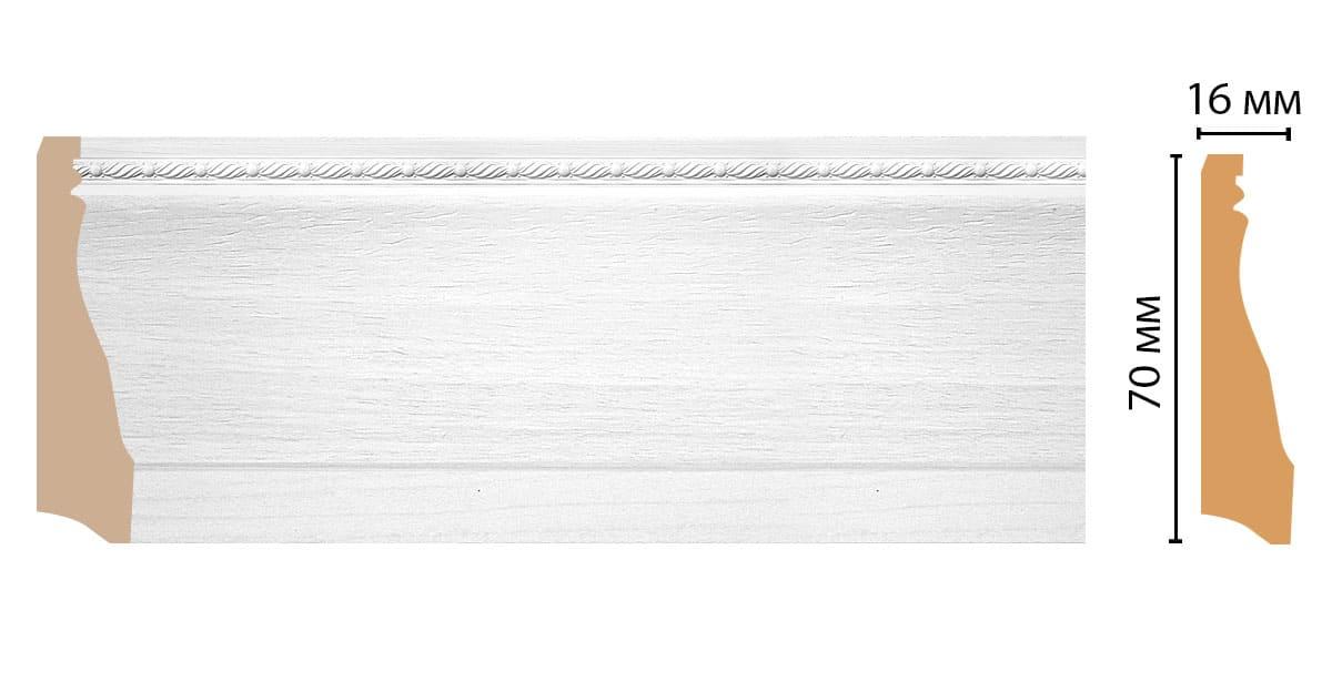 193-16 Плинтус (2400 × 70 × 16 )