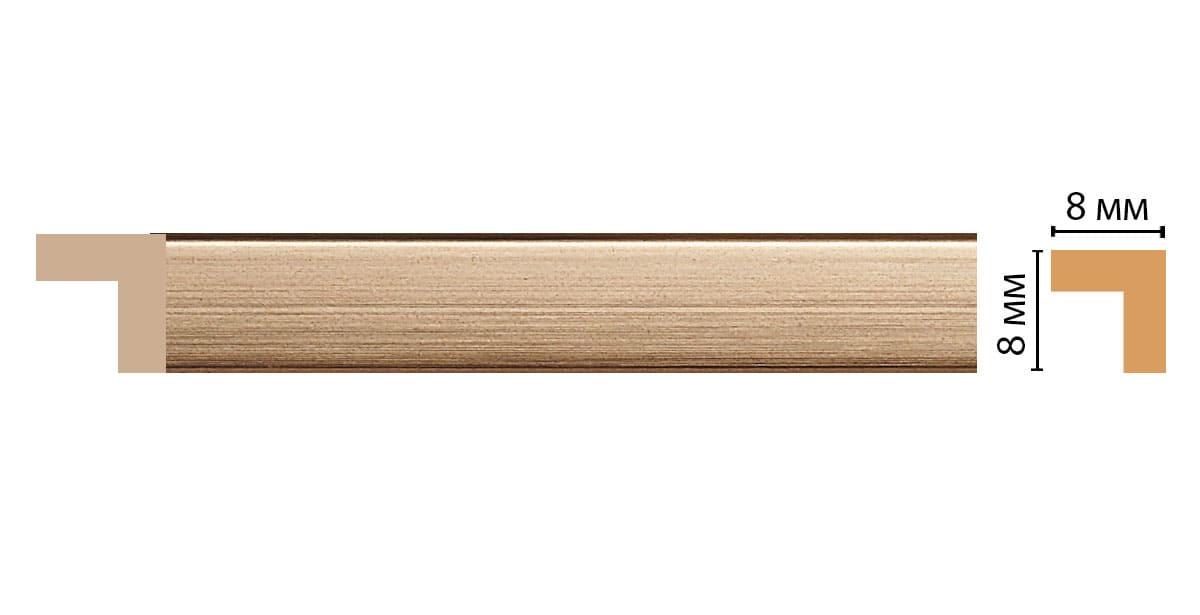 197-243 Молдинг (2400 × 8 × 8 )
