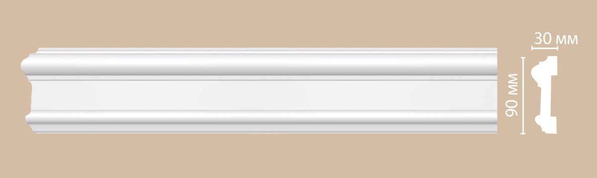 97901F Гибкий молдинг (2300 × 90 × 30 )