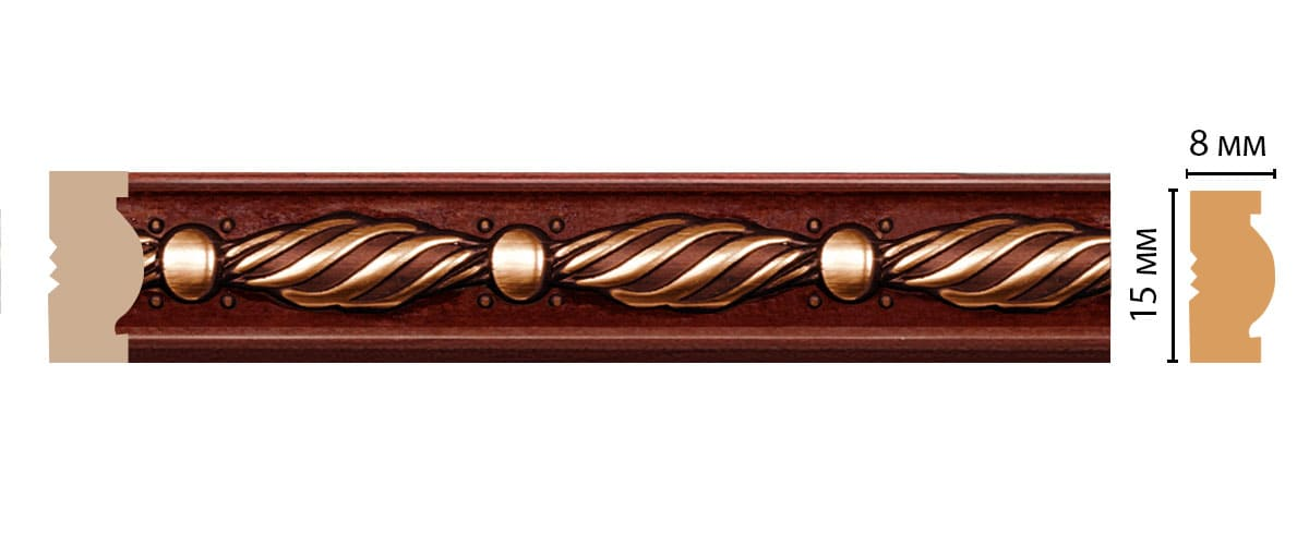 105-52 Молдинг (2400 × 15 × 8 )