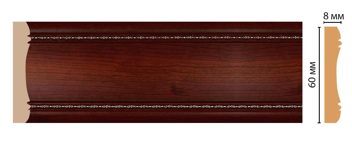 185-52 Молдинг (2400 × 60 × 8 )
