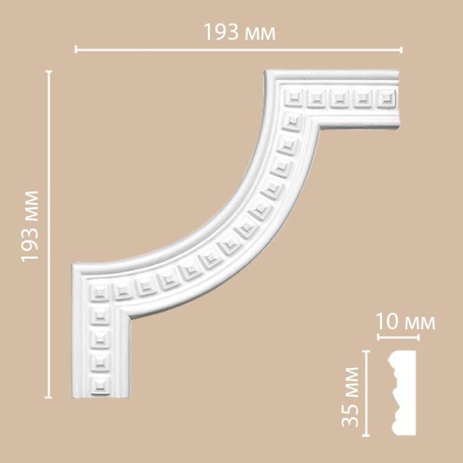 DT 9080-2/180 угол DECOMASTER-2 (193х193х10мм)
