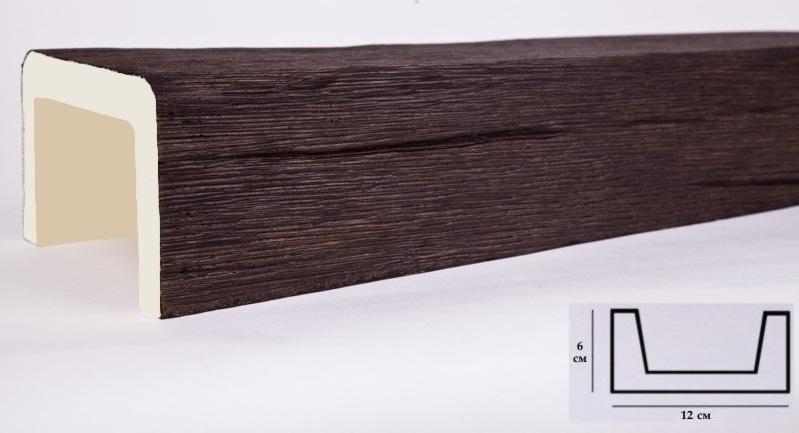 М12 балка темный дуб (6х12х300см) ОП