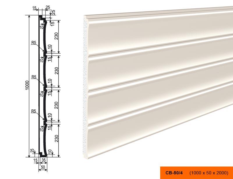 СВ-50/4 Накладка/панель (2000 × 1000 × 50 )