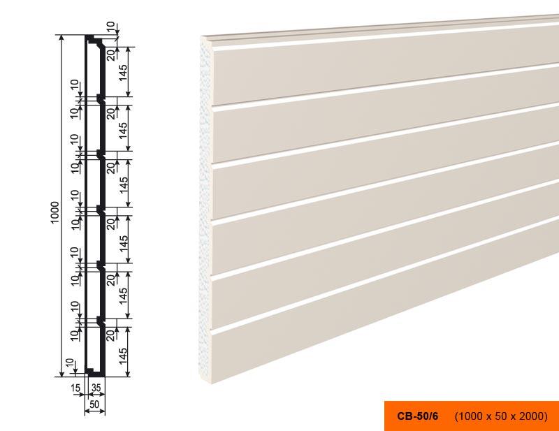 Накладка  СВ - 50/6  панель (1000х50х2000)