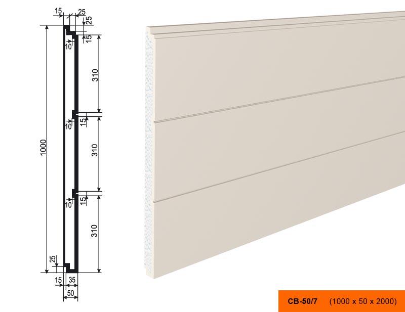 Накладка  СВ - 50/7  панель (1000х50х2000)