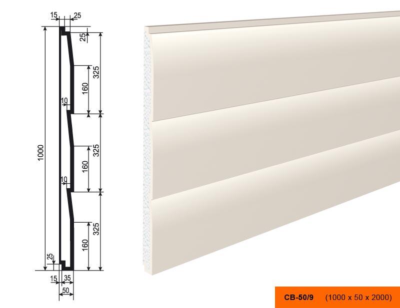 Накладка  СВ - 50/9  панель (1000х50х2000)