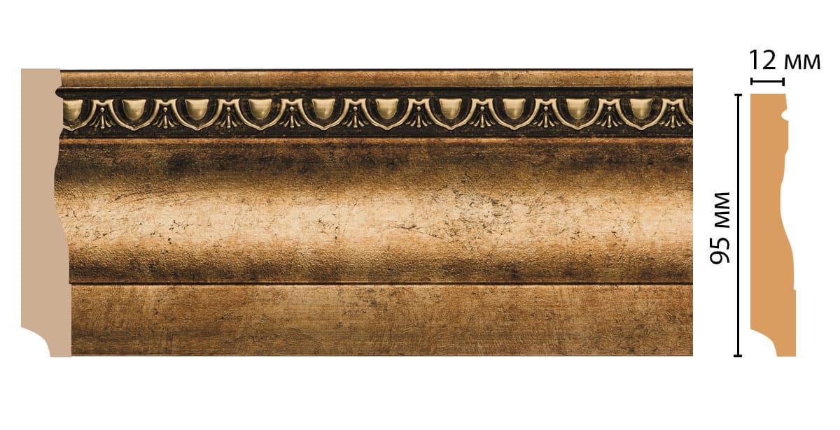 153-57 Плинтус напольный (2400 × 95 × 12 )