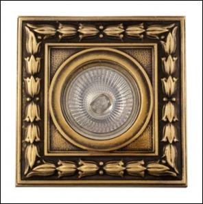 SV 7048 AB Декоративный гипсовый светильник (108х108х20)
