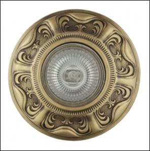 SV 7051 AB Декоративный гипсовый светильник (106х106х23)