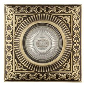 SV 7052 AB Декоративный гипсовый светильник (100х100х18)