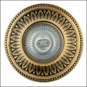 SV 7054 AB Декоративный гипсовый светильник (110х110х35)