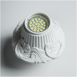 SV 7141 Гипсовый светильник (140 × 140 × 75 )