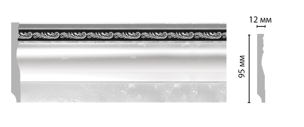 153-63 Плинтус напольный (2400 × 95 × 12 )