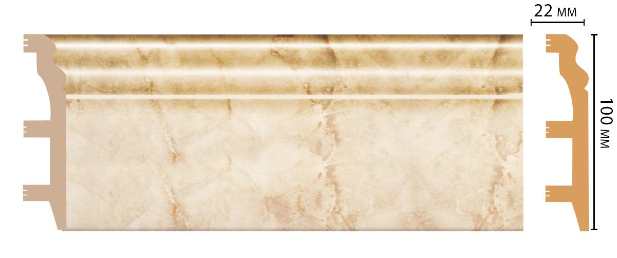 D232-80 Плинтус напольный (2400 × 100 × 22 )